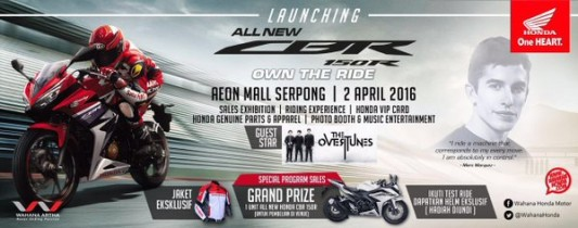 2 April 2016, Launching All New CBR 150R Di AEON Mall BSD City