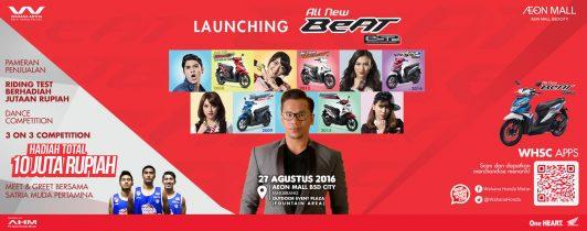 Event Launching All New BeAT eSP Di Aeon Mall BSD City Tangerang, 27 Agustus 2016